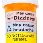 Warning labels on prescription bottle