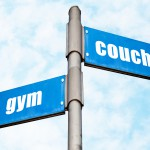 Road sign: Couch or gym