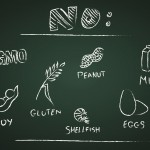Food Allergies on chalkboard