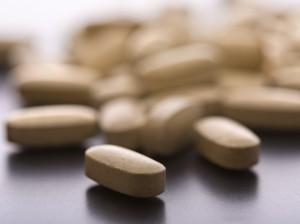 Vitamins on table
