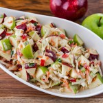Coleslaw with green and red apples