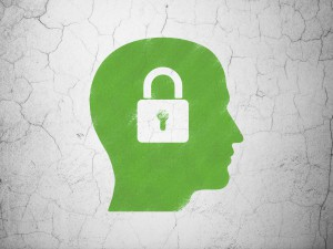 Brain with lock concept