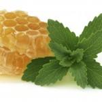Honey comb with stevia