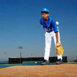 Baseball Player on Pitching Mound