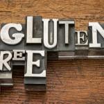 Gluten free words in metal type
