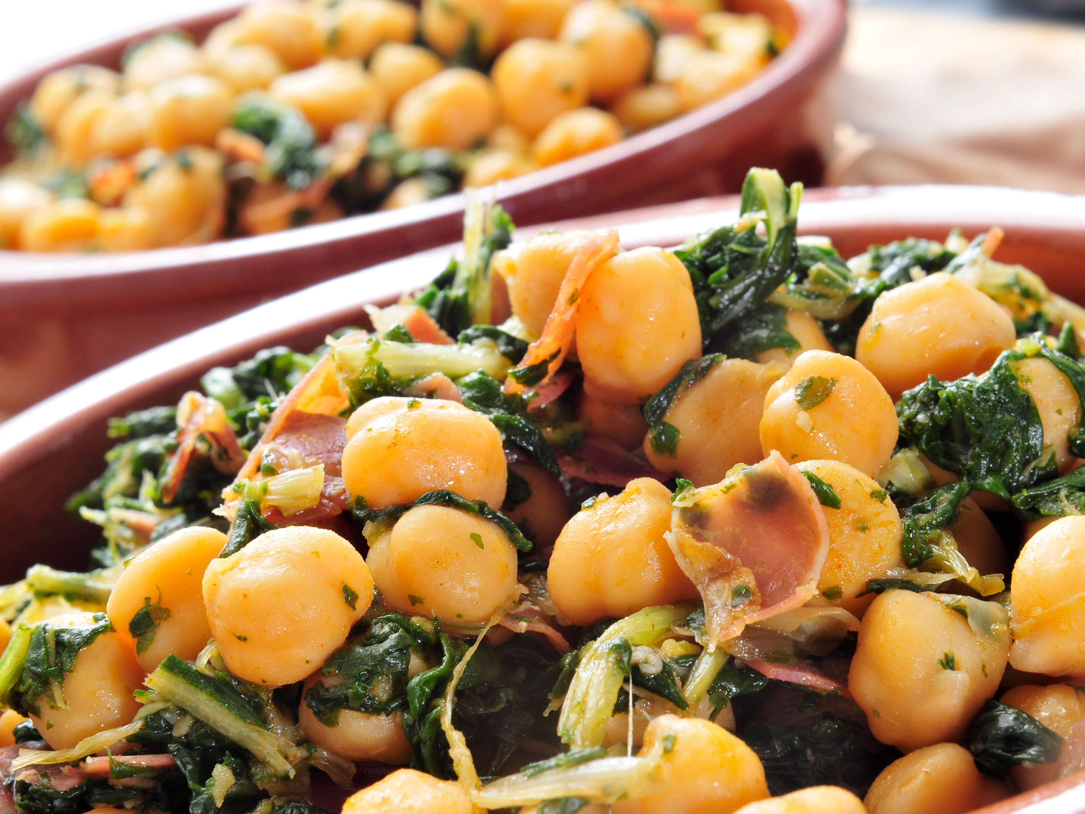 ... chickpeas with spinach channa palak curried chick peas with spinach
