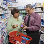 couple looking at natural supplements