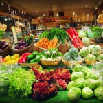 vegatables at grocery store