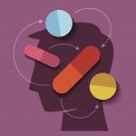 Human head with medicine
