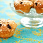 Here's a helpful hint for prepping raisins to make them tastier in baked goods. Put the raisins in a bowl and pour boiling water over them. Leave them in the water until they plump up, then drain completely. The raisins will remain plump and juicy even when baked.