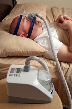 Video of someone with sleep apnea