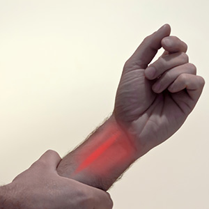Having a burning thumb stinging