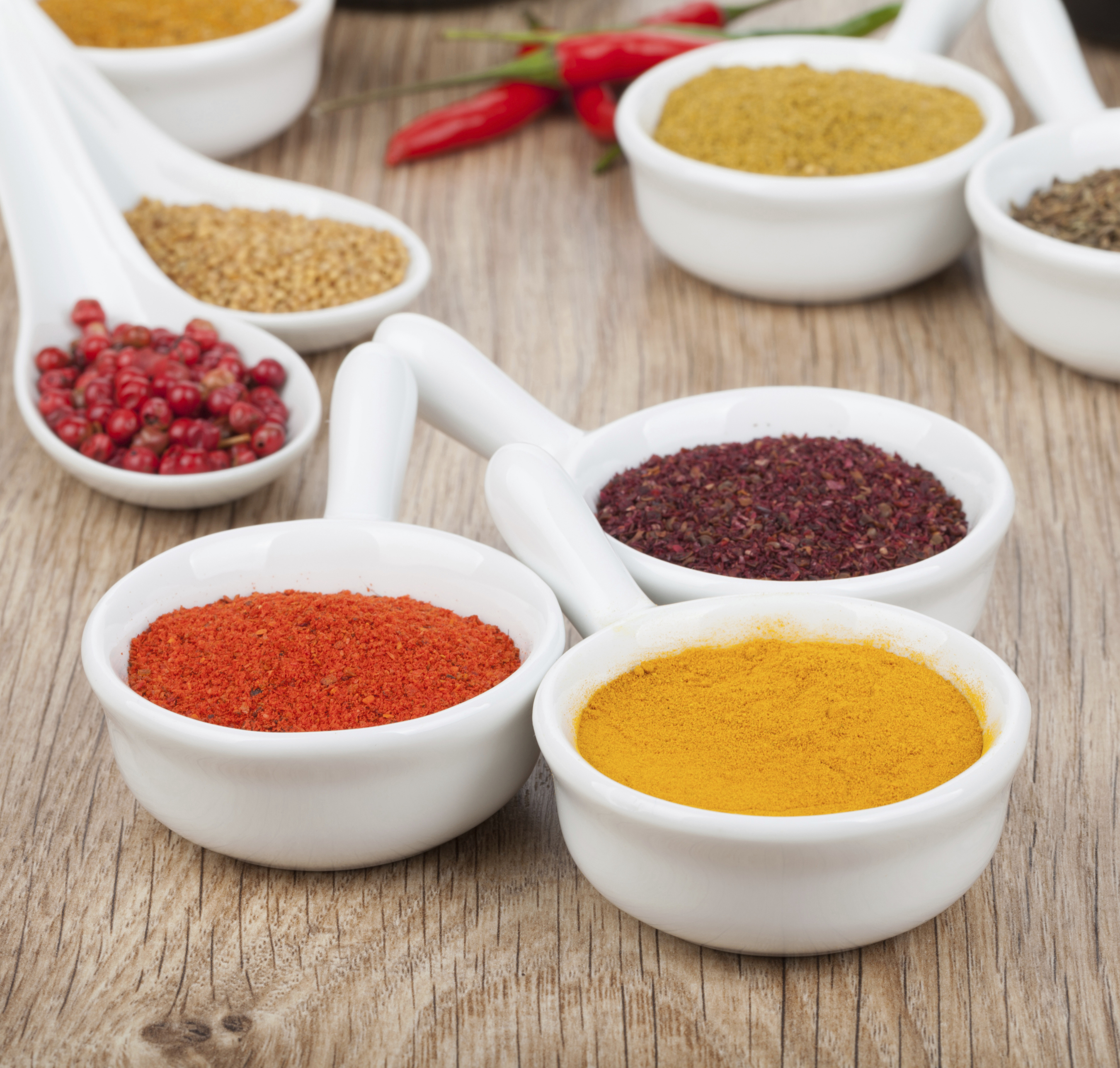 6 health benefits in your spice rack