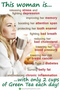 Green tea should be celebrated for it's amazing health benefits.