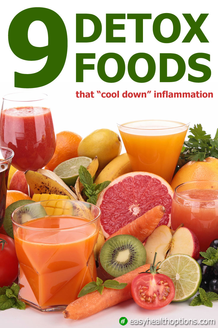 "Nine detox foods that ""cool down"" inflammation"