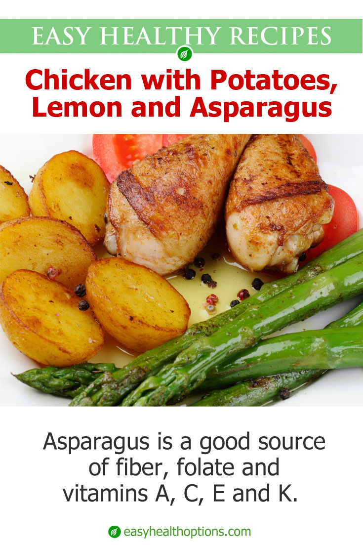 Roast Chicken With Potatoes, Lemon, And Asparagus Recipe ...