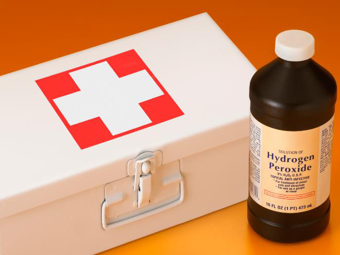 Hydrogen peroxide can also shorten the duration of colds and influenza. Just put a few drops of 3% hydrogen peroxide in one ear and wait for it to quit bubbling (about five to 10 minutes). Then repeat in the other ear.