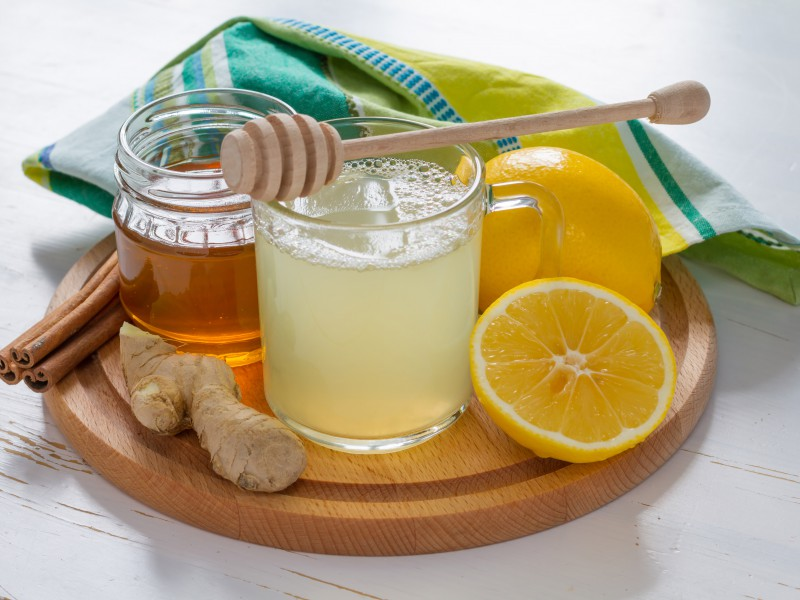In The Kitchen With Kelley Warm Honey Lemonade