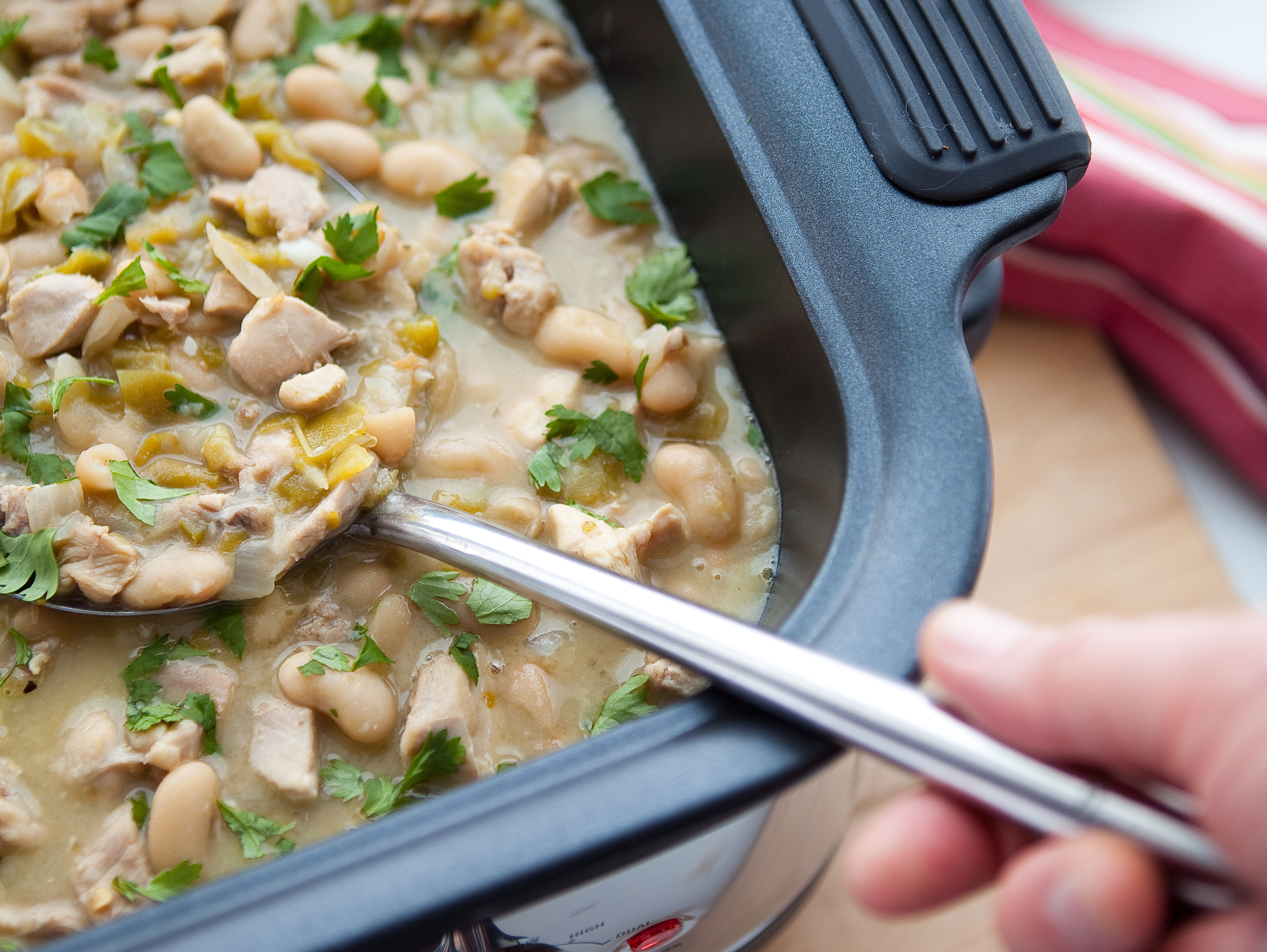 In the kitchen with Kelley: Slow cooker chicken soup with white beans and spinach