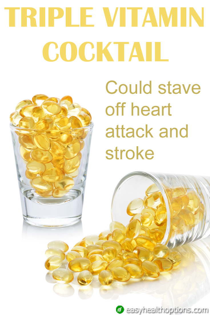 Triple Vitamin Cocktail Could Stave Off Heart Attack And
