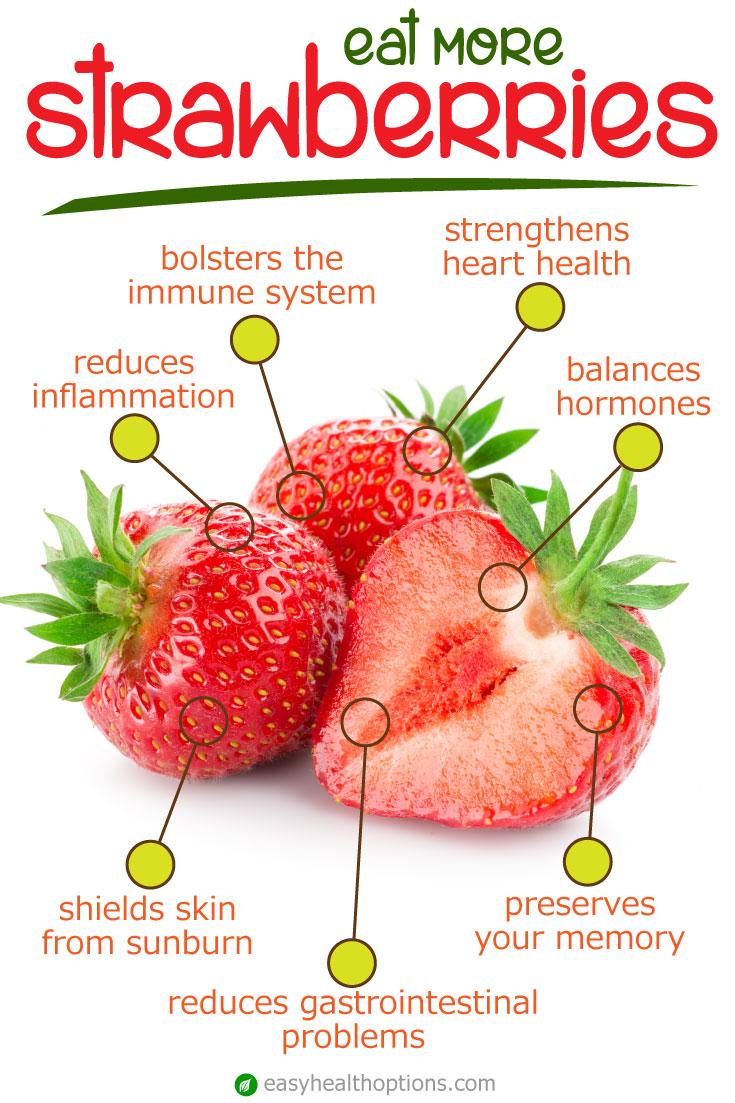 Eat more organic strawberries for amazing health benefits